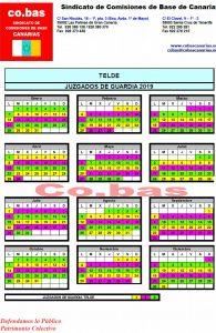 Palmas Calendario.Calendarios De Los Juzgados De Guardia De La Provincia De